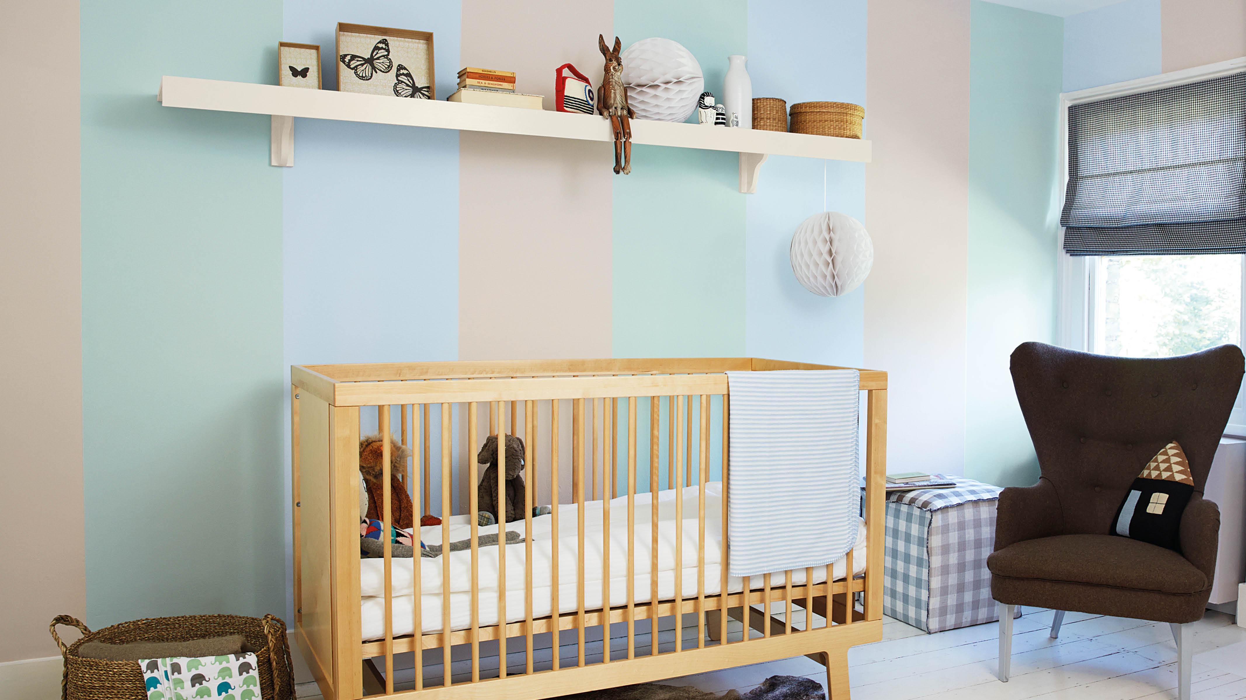 Pastelstroken babykamer